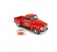 atlas 25000018 1953 pickup w/cooler - coca-cola