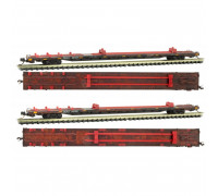 micro trains 99305510 quax 89' flat car 2pk