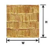plastruct 91659 wood shake shingle sheet