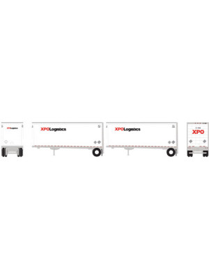 athearn 10758 xpo 28' trailer/dolly 2pk