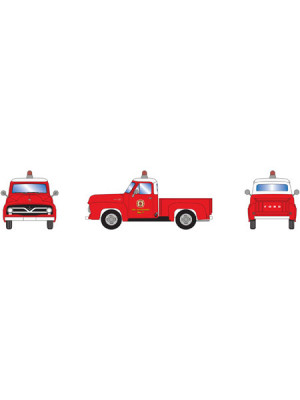 athearn 28103 ford f-100 pickup red/white