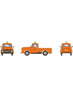 athearn 28104 ford f-100 pickup orange mow