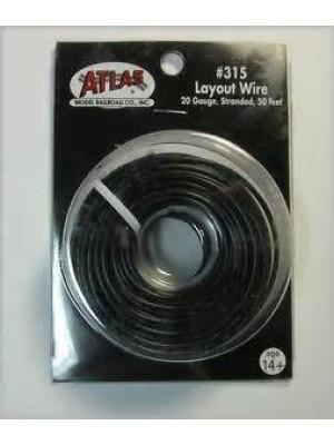 atlas 315 layout wire 20 gauge 50' black