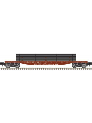 atlas 2002008 cotton belt trainman 52' flat car