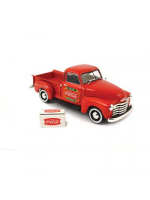 atlas 25000018 1953 pickup w/cooler - coca-cola