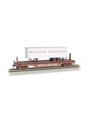 bachmann 16706 western maryland flat w/trlr