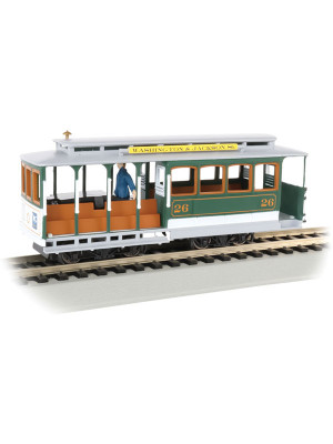 bachmann 60536 cable car w/figure grn/gry