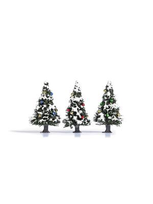 busch 6464 pine tree w/ornaments 3pk