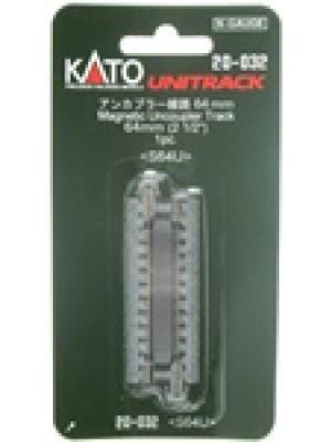 "kato 20-032 2-1/2"" magnetic uncoupler track"