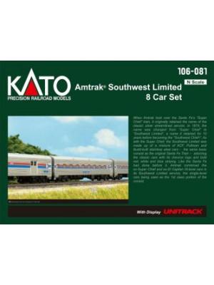 kato 106081 amtrak southwest limited 8car