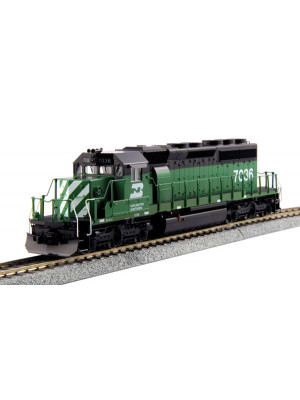 kato 37-6604 burlington northern sd40-2 rd#7036