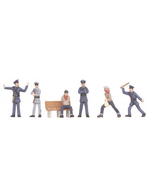 mth 30-11056 cops & robber figure set