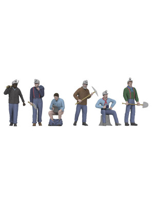 mth railking 11058 miners 6 pce set
