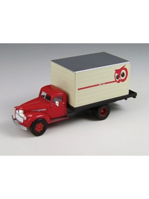 classic metal works 30374 red owl box truck