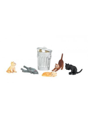 bachmann 33157 cats & garbage cans