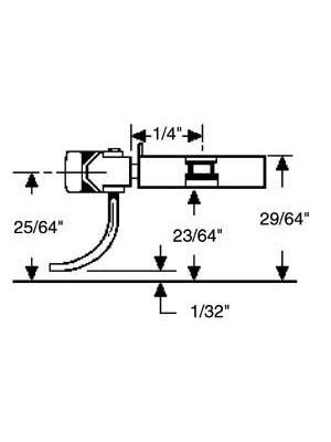 """kadee 43 40-Series Coupler Metal Short (1/4"""") Cent"""