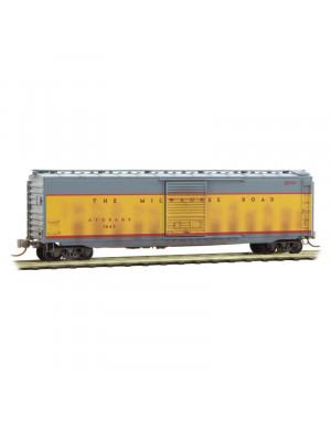 micro trains 03144510 milw rd 50' boxcar wthrd