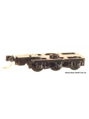 micro trains 1018 6 wheel passenger truck black