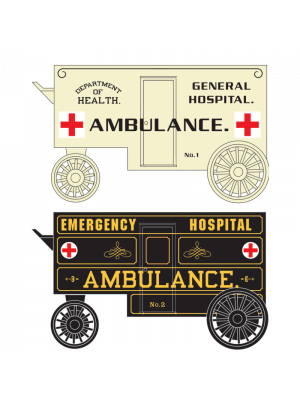 micro trains 47000299 ambulance wagon 2pk
