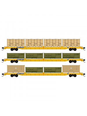 micro trains 99301910 dodc cofc flat car 3pk #2