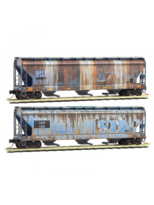 micro-trains 99305500 aex/grand trunk wthrd 2pk
