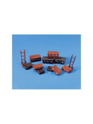 peco 5062 ho trucks/suitcase & trolley