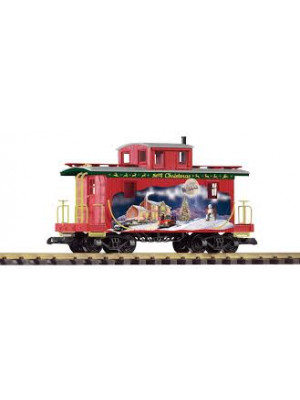piko 38897 christmas wood caboose