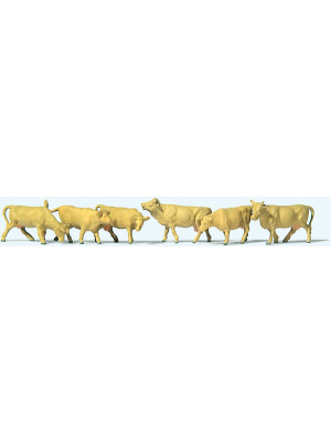 preiser 79229 cows lights brown 6pk