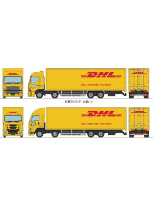 tomytec 287872 dhl large truck set