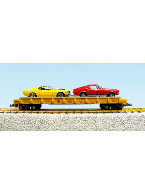 usa trains 1722c up flat w/boss mustangs