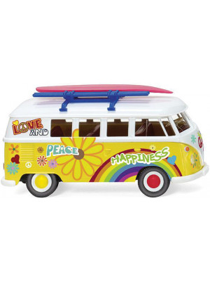 wiking 79725 vw bus flower power 60's
