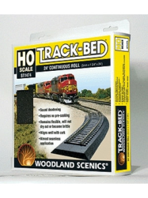 woodland scenics st1474 ho track bed 24'
