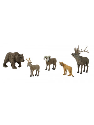 woodland scenics 4449 north amer. wildlife 5/pk