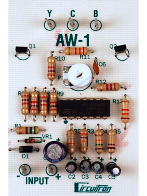 circuitron 5841 aw-1 arc welder circuit w/bulbs