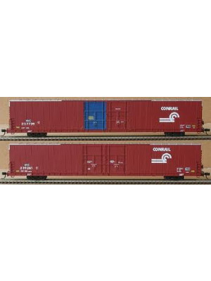 bluford shops 86012 conrail 86' autobox 2 pack