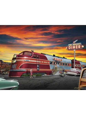tev 24520 rocket diner puzzle 500pc