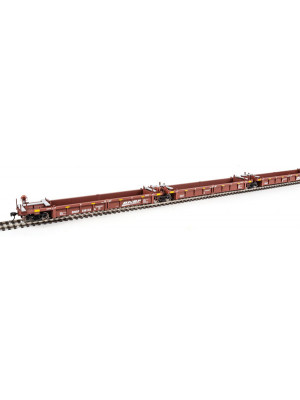 walthers mainline 55605 bnsf 5 unit well car set