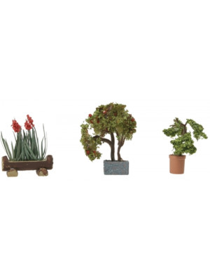 walthers 949-1087 blooming plants 3pk