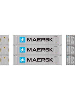 athearn 14283 maersk 45' container 3pk