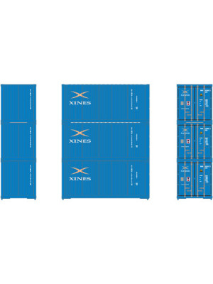 athearn 27969 xines 20' container 3pk