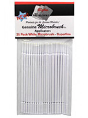 alpha abrasives 1303 microbrushes superfine 25pk