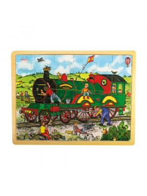 bigjigs bj741 train tray puzzle
