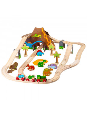 bigjigs bjt35 dinosaur railway set