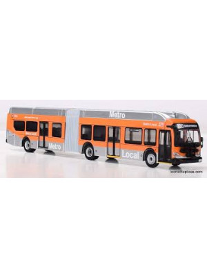 iconic replicas 870163 la metro articulated bus