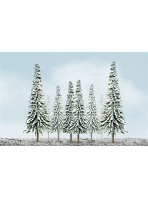 "jtt 92007 snow covered spruce trees 4-6"" 24pk"