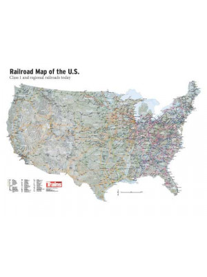 kalmbach 83030 railroad map of the US