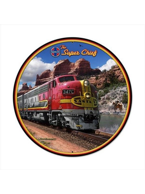 "super chief 14"" round sign"