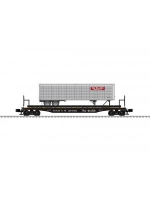 lionel 84880 rio grande flat w/trailer