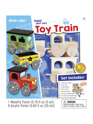 masterpieces 21417 paint your own toy train
