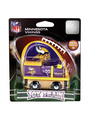 masterpieces 41574 minnesota vikings wooden train